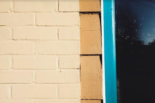 wood trim of a home's door frame